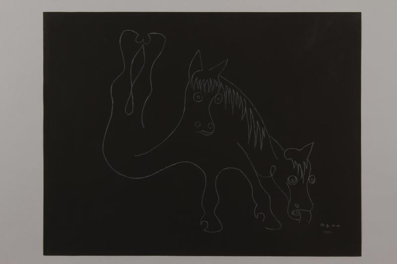 1992.223.1 front Premonitory drawing by Bencjon Benn