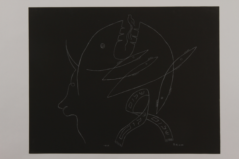 1992.223.12 front Premonitory drawing by Bencjon Benn