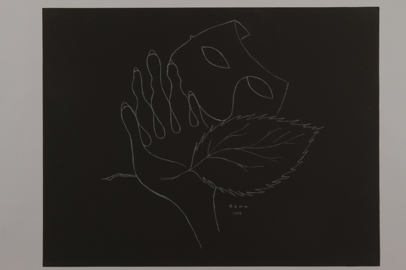1992.223.14 front Premonitory drawing by Bencjon Benn