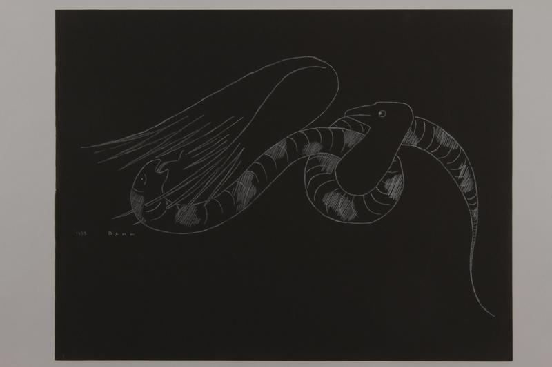 1992.223.15 front Premonitory drawing by Bencjon Benn