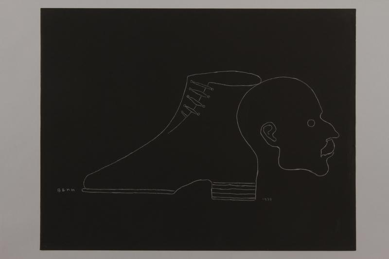 1992.223.17 front Premonitory drawing by Bencjon Benn