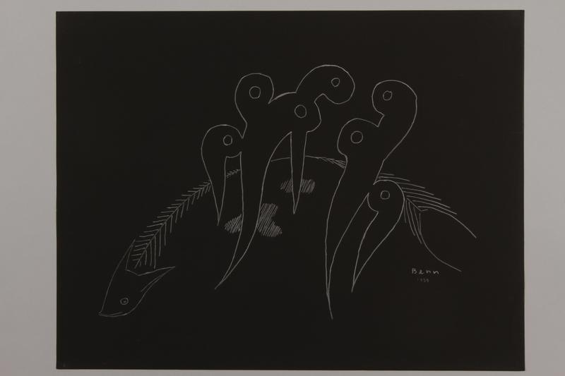 1992.223.18 front Premonitory drawing by Bencjon Benn