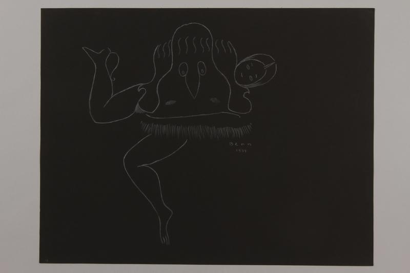 1992.223.19 front Premonitory drawing by Bencjon Benn