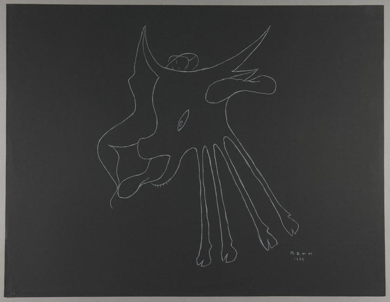 1992.223.21 front Premonitory drawing by Bencjon Benn