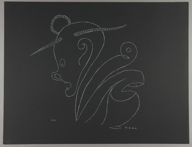 1992.223.22 front Premonitory drawing by Bencjon Benn