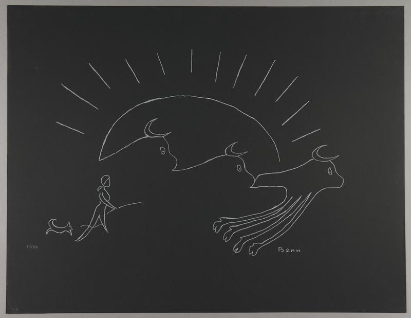 1992.223.23 front Premonitory drawing by Bencjon Benn