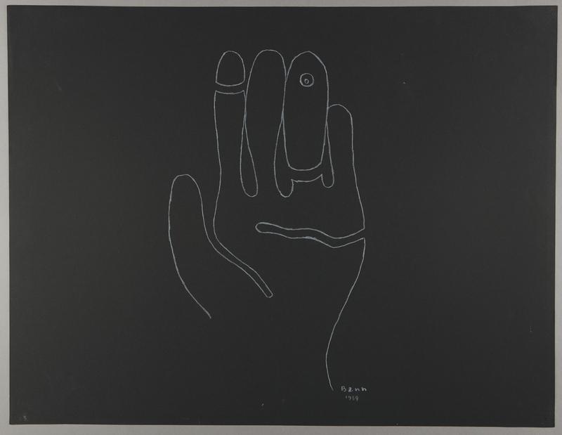 1992.223.25 front Premonitory drawing by Bencjon Benn