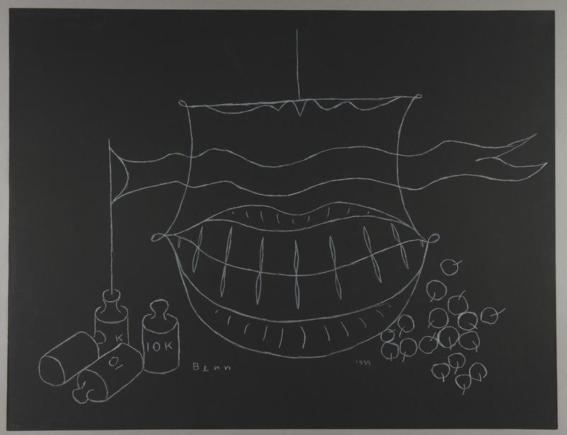 1992.223.27 front Premonitory drawing by Bencjon Benn