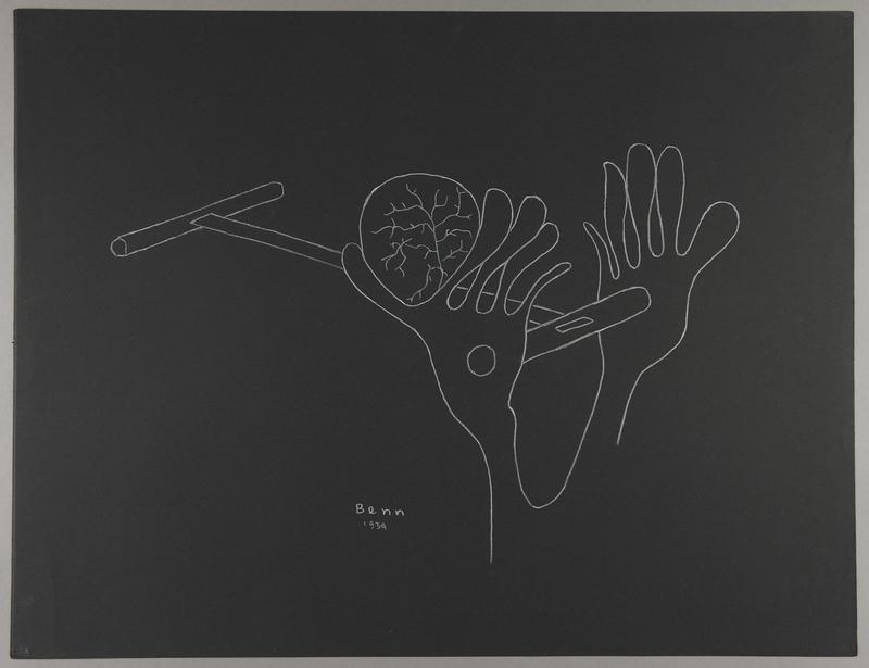 1992.223.28 front Premonitory drawing by Bencjon Benn