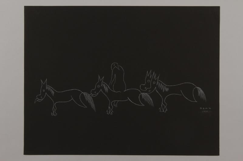 1992.223.3 front Premonitory drawing by Bencjon Benn