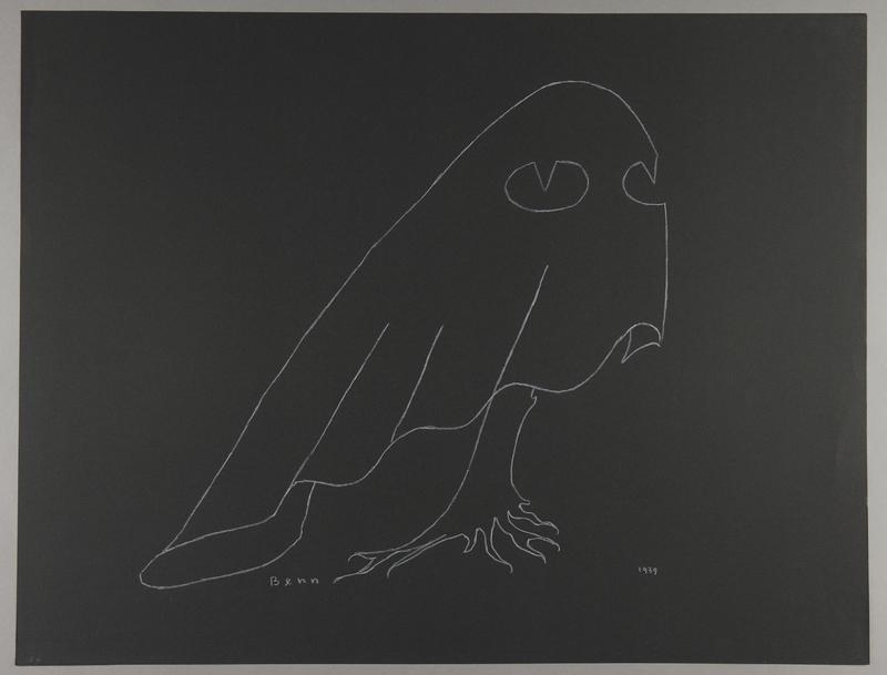 1992.223.30 front Premonitory drawing by Bencjon Benn