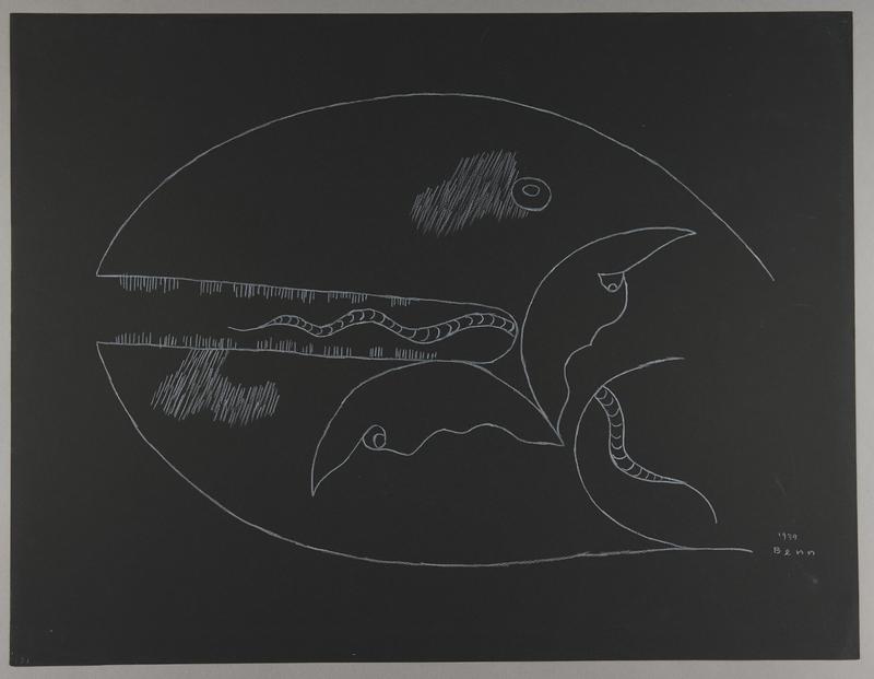 1992.223.31 front Premonitory drawing by Bencjon Benn