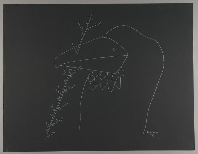 1992.223.33 front Premonitory drawing by Bencjon Benn