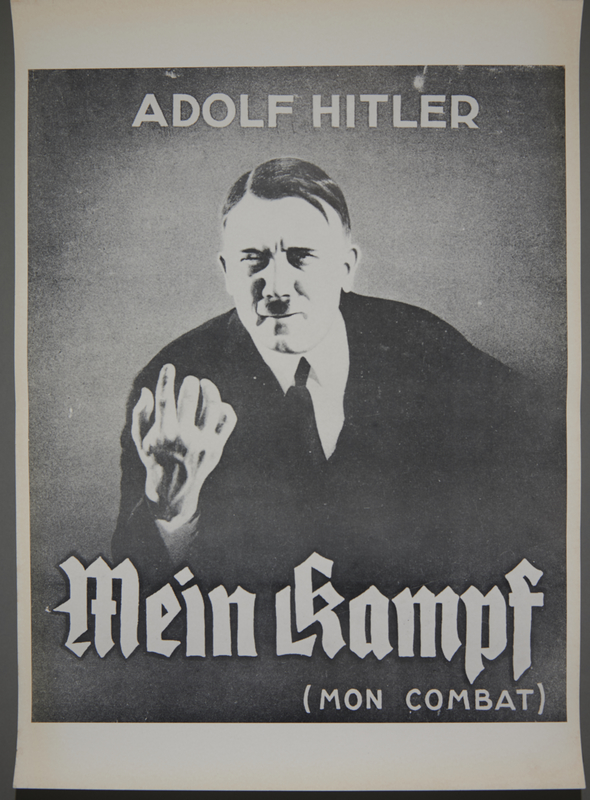 "2019.43.1 front Poster, ""Adolf Hitler / Mein Kampf / (Mon Combat)"""