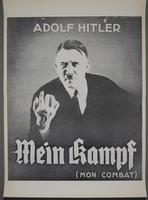 "2019.43.1 front Poster, ""Adolf Hitler / Mein Kampf / (Mon Combat)""  Click to enlarge"