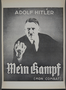 "Poster, ""Adolf Hitler / Mein Kampf / (Mon Combat)"""
