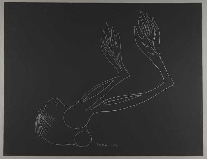 1992.223.34 front Premonitory drawing by Bencjon Benn