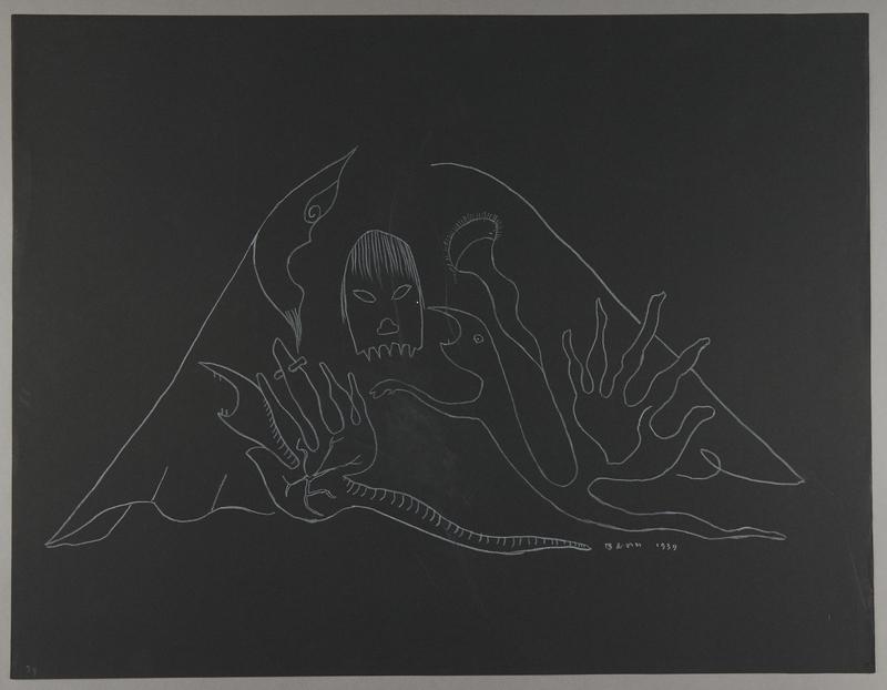 1992.223.39 front Premonitory drawing by Bencjon Benn