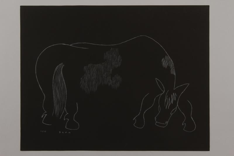 1992.223.4 front Premonitory drawing by Bencjon Benn