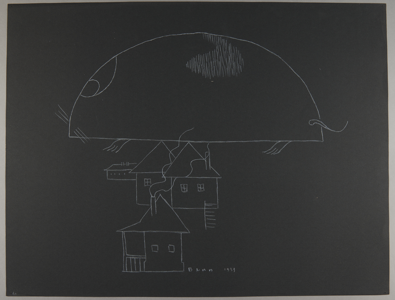 1992.223.41 front Premonitory drawing by Bencjon Benn