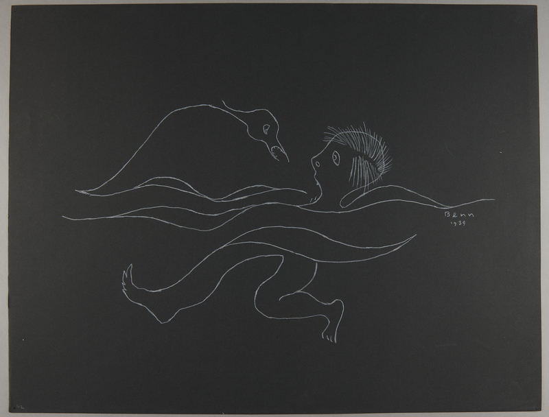 1992.223.42 front Premonitory drawing by Bencjon Benn