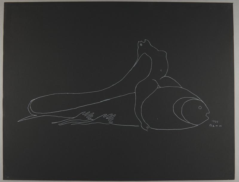1992.223.43 front Premonitory drawing by Bencjon Benn
