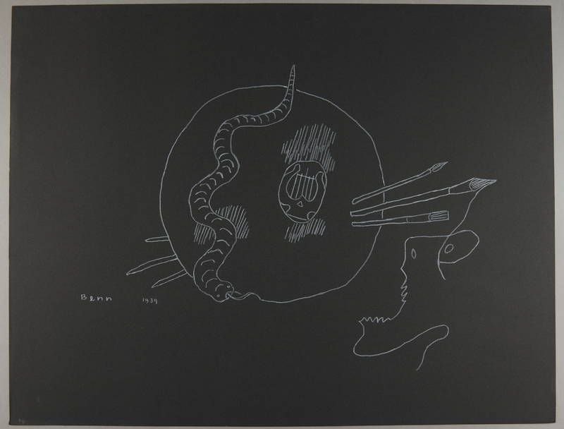 1992.223.44 front Premonitory drawing by Bencjon Benn