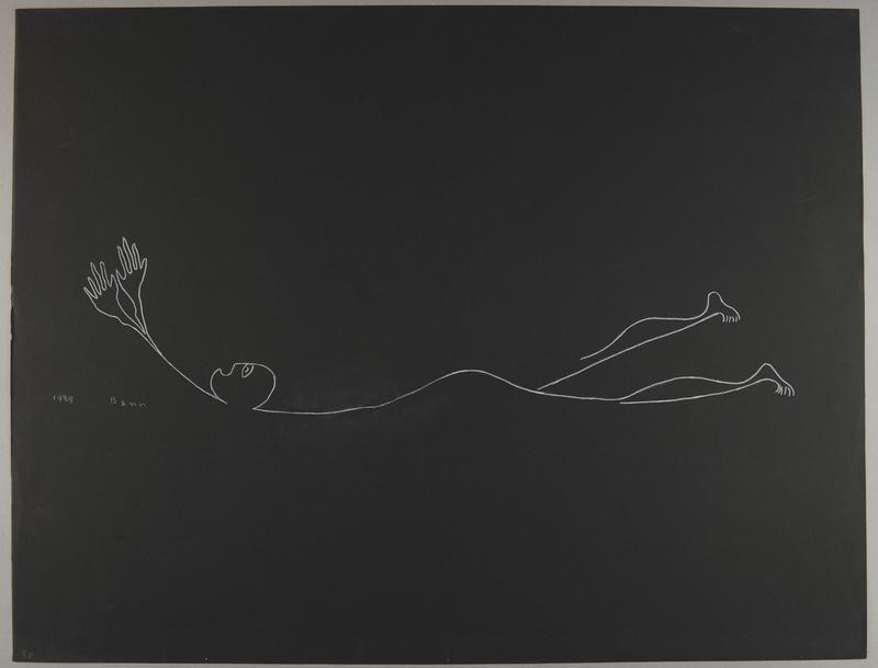 1992.223.45 front Premonitory drawing by Bencjon Benn