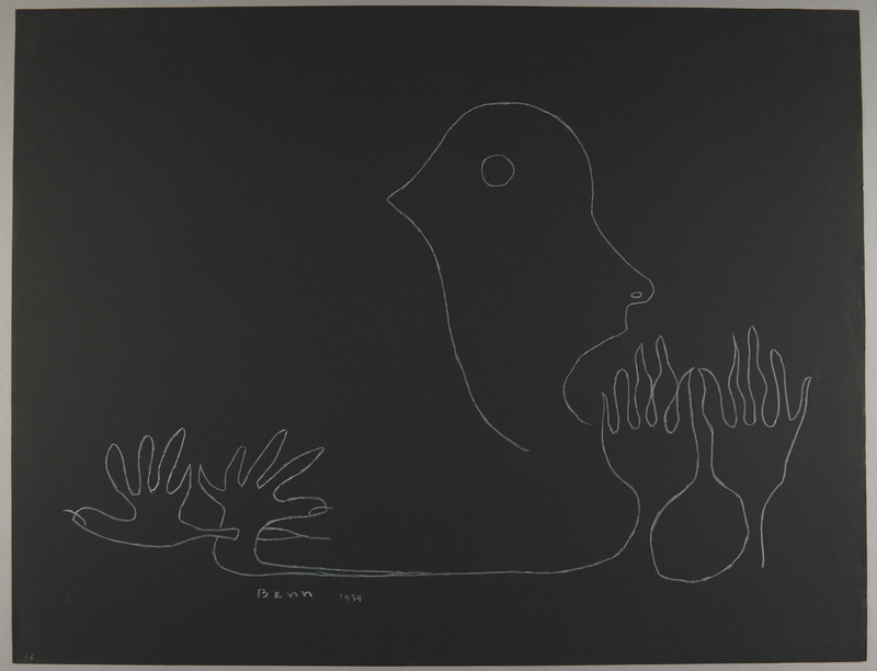 1992.223.46 front Premonitory drawing by Bencjon Benn