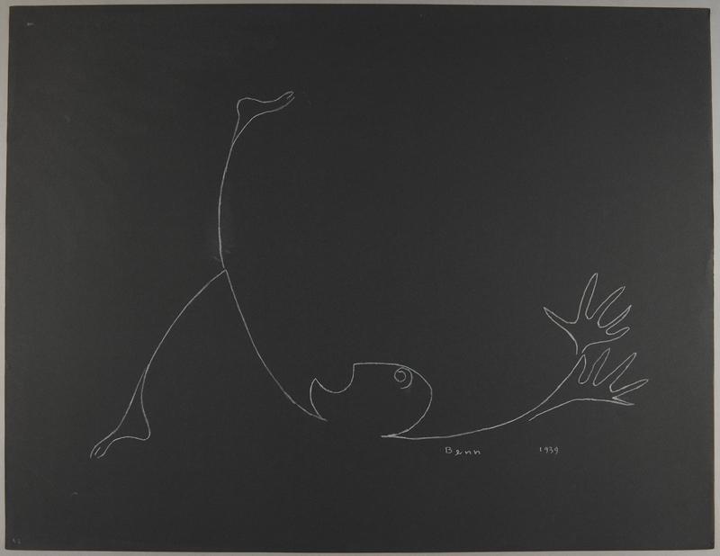 1992.223.47 front Premonitory drawing by Bencjon Benn