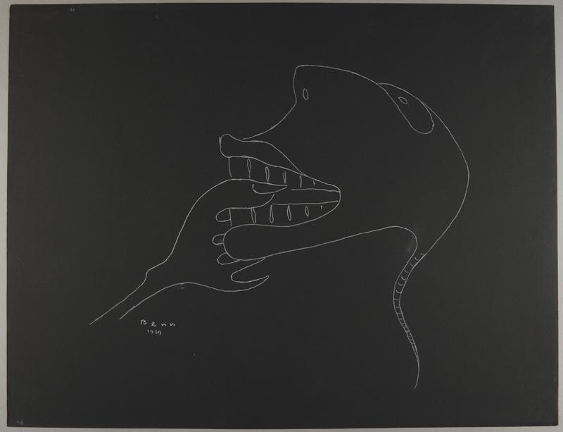 1992.223.48 front Premonitory drawing by Bencjon Benn