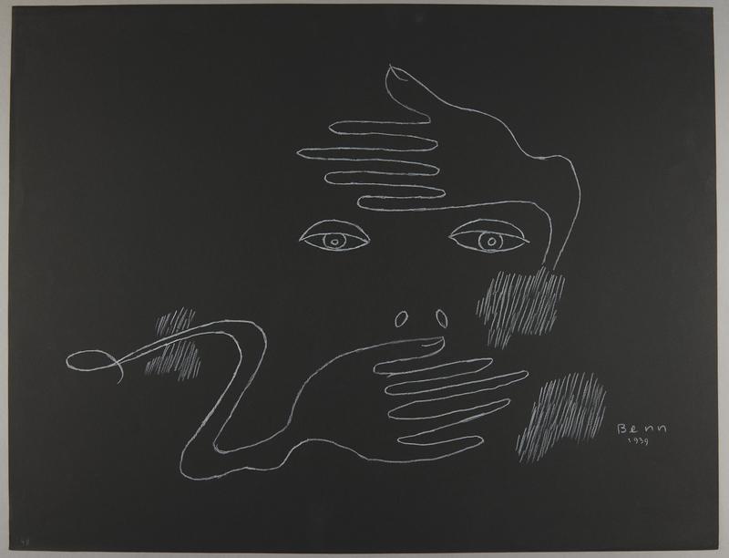 1992.223.49 front Premonitory drawing by Bencjon Benn