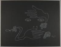 1992.223.49 front Premonitory drawing by Bencjon Benn  Click to enlarge