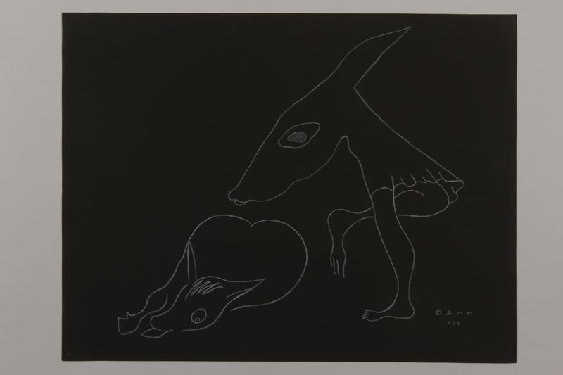 1992.223.5 front Premonitory drawing by Bencjon Benn
