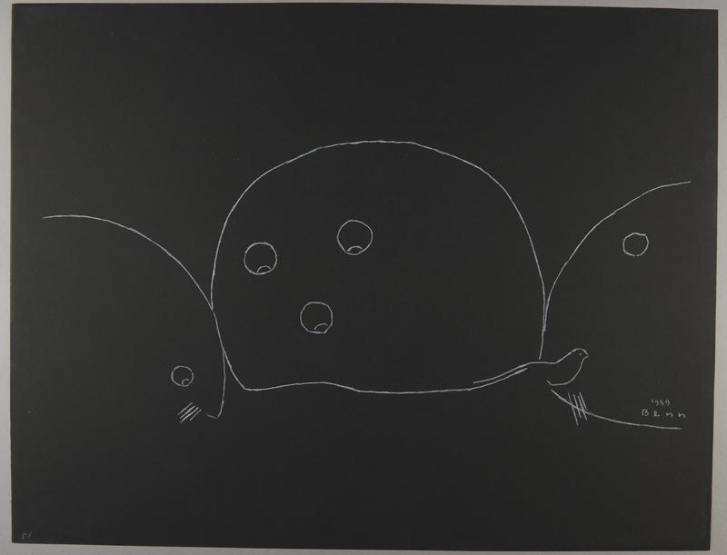 1992.223.51 front Premonitory drawing by Bencjon Benn