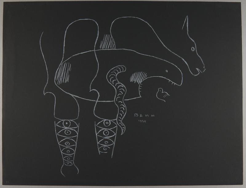 1992.223.52 front Premonitory drawing by Bencjon Benn