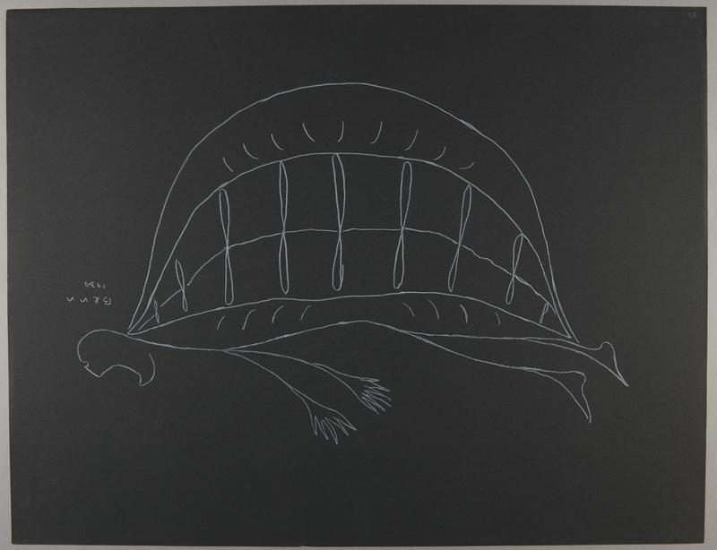 1992.223.53 front Premonitory drawing by Bencjon Benn
