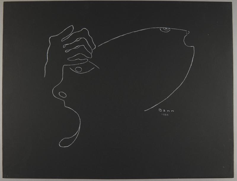 1992.223.54 front Premonitory drawing by Bencjon Benn