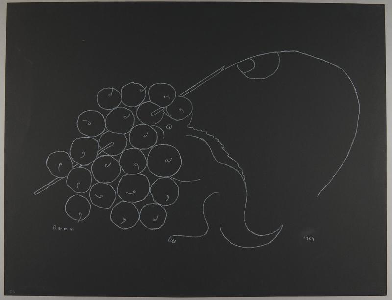 1992.223.56 front Premonitory drawing by Bencjon Benn