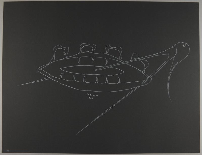 1992.223.59 front Premonitory drawing by Bencjon Benn
