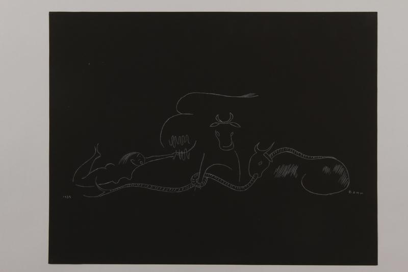 1992.223.6 front Premonitory drawing by Bencjon Benn