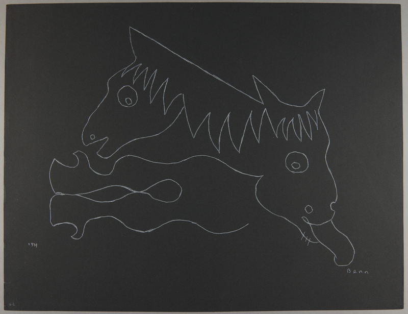 1992.223.62 front Premonitory drawing by Bencjon Benn