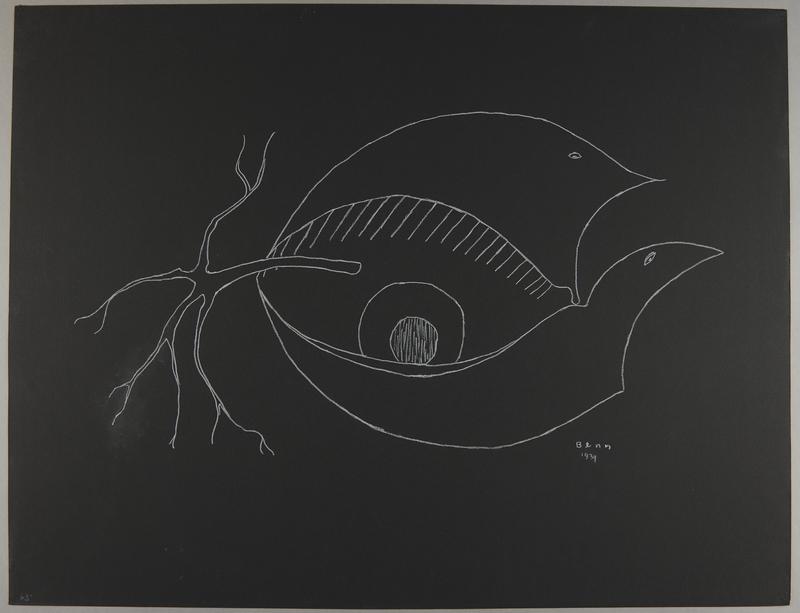 1992.223.63 front Premonitory drawing by Bencjon Benn