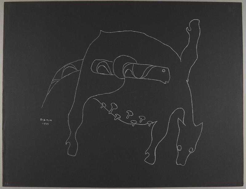 1992.223.64 front Premonitory drawing by Bencjon Benn