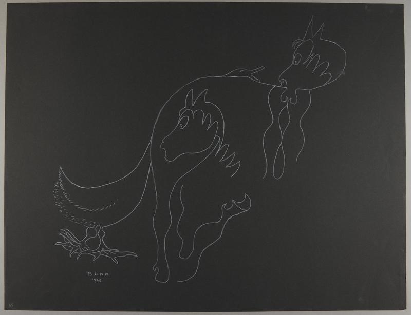 1992.223.65 front Premonitory drawing by Bencjon Benn