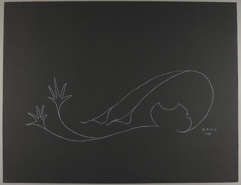1992.223.66 front Premonitory drawing by Bencjon Benn