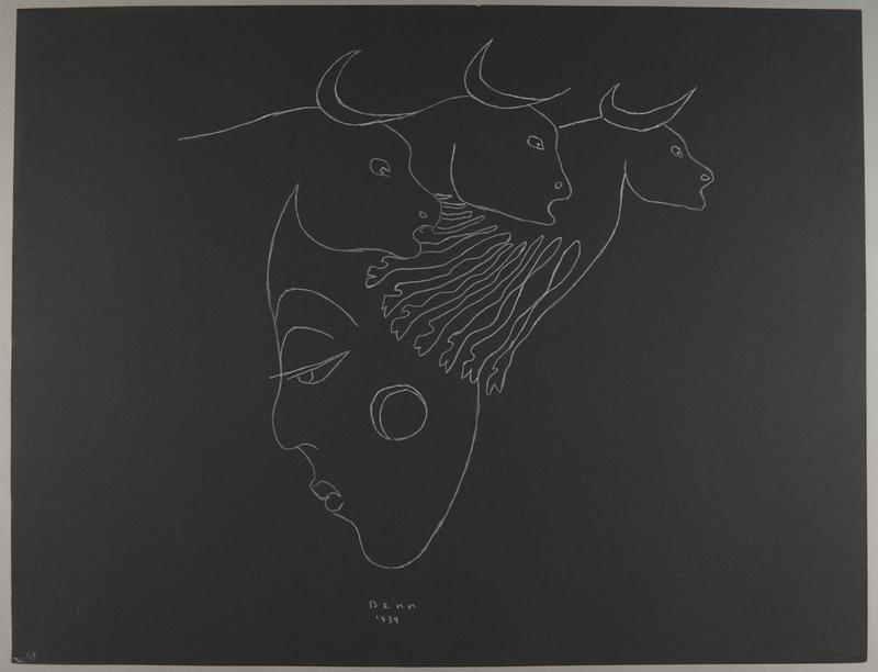 1992.223.68 front Premonitory drawing by Bencjon Benn