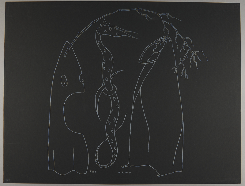 1992.223.70 front Premonitory drawing by Bencjon Benn