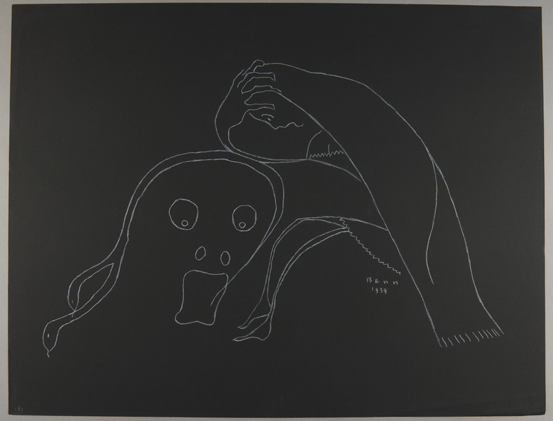 1992.223.71 front Premonitory drawing by Bencjon Benn