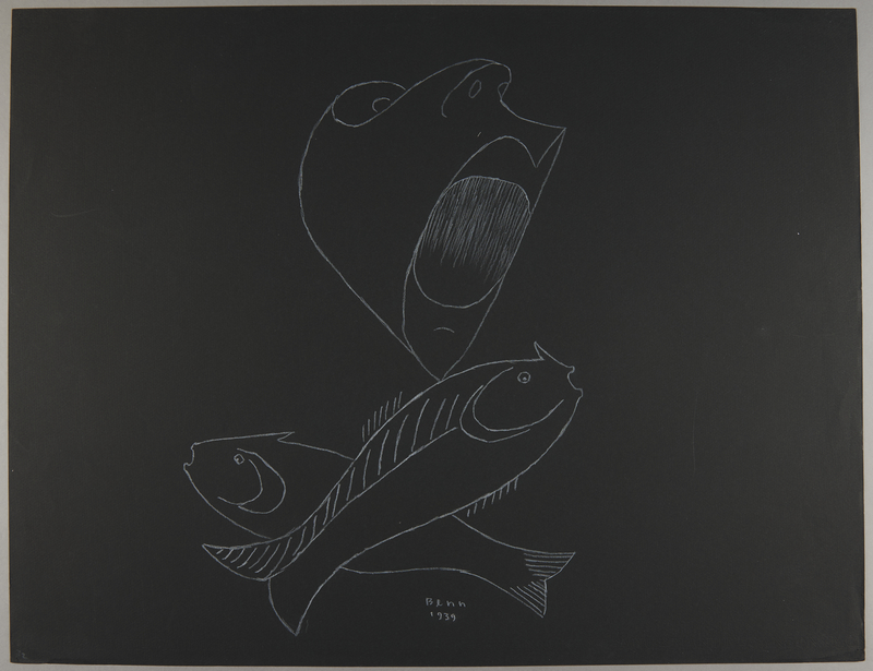 1992.223.72 front Premonitory drawing by Bencjon Benn
